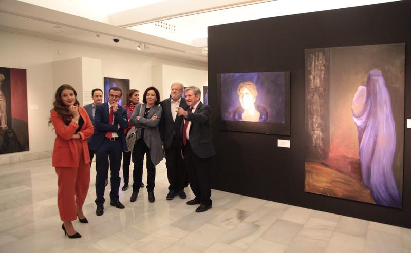La obra de Sofía Gandarias se exhibe en la Sala ''Vaquero Poblador'' de la Diputación
