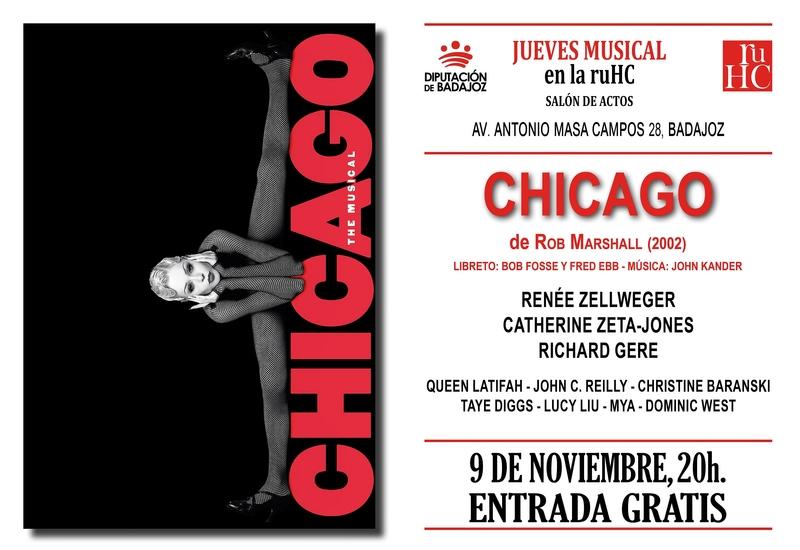 El libreto de la película ''Chicago'' protagoniza el ciclo de música en la R.U. Hernán Cortés