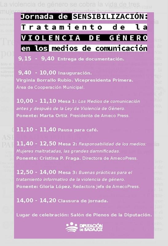 Jornada de sensibilización sobre el tratamiento de la Violencia de Género en los medios de comunicación