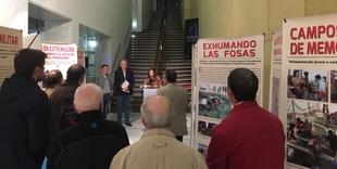 La Diputación de Badajoz acoge la exposición ''Tras las huellas de la Memoria Histórica en Extremadura''
