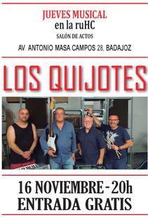 El grupo Los Quijotes actuará este jueves en la Residencia Universitaria Hernán Cortés