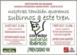 Un centenar de estudiantes de la R. U. Hernán Cortés asistirán a la concentración de Madrid por ''Un tren digno para Extremadura''