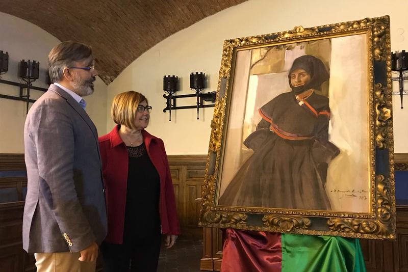 La Plaza Mayor de Plasencia se convierte en un 'museo al aire libre' en el Centenario de la obra de Sorolla 'El mercado'
