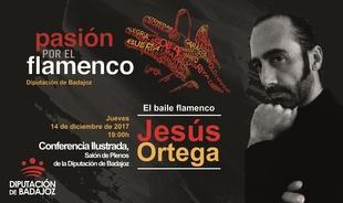 Rafael Ortega hablará sobre el baile flamenco en la Diputación de Badajoz