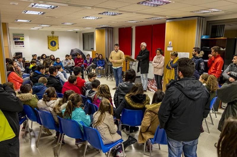 Saturnino Alcázar visita a la Banda Municipal de Herrera del Duque