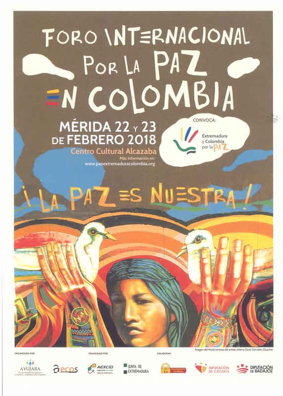 La Diputación apoya la convocatoria del Foro Internacional por la Paz en Colombia
