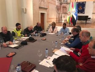 La delegada preside la Junta Local de Seguridad de Olivenza para coordinar los dispositivos de la Feria del Toro