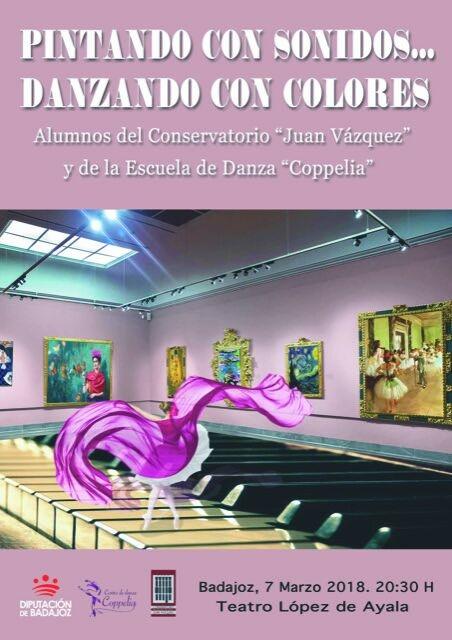 Músicos y bailarines del Conservatorio Profesional y la Escuela