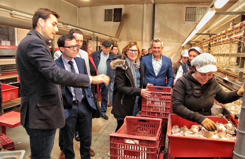 El presidente de la Diputación visita Aceuchal para conocer la realidad y los proyectos del municipio