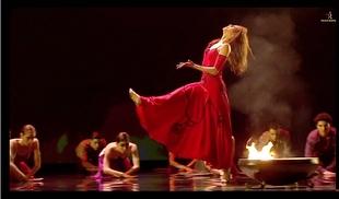 Ballet con Estrella Morente al cante en la R. U. Hernán Cortés