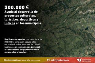 La Diputación ayuda al desarrollo de proyectos culturales, turísticos, deportivos y lúdicos en los municipios