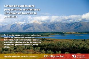 La Diputación saca dos líneas de ayudas para proyectos de asociaciones sin ánimo de lucro de la provincia