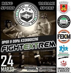 Más de 300 deportistas se darán cita en el Open y Copa FightExtrem de Kickboxing de Olivenza