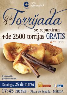 La '8ª Torrijada' repartirá más de 2.500 torrijas el Domingo de Ramos en Mérida