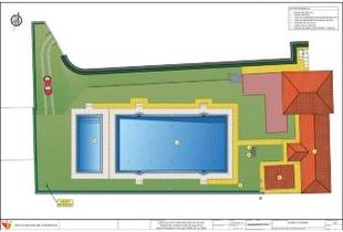 Diputación formaliza el contrato para reparar la piscina de Valverde de la Vera, dañada por la rotura de la balsa de agua
