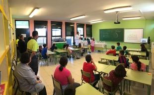 Aquanex enseña a un centenar de escolares de Jerez de los Caballeros cómo hacer un buen uso del agua