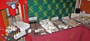 La Guardia Civil desmantela un importante punto de transformación y tráfico de drogas en Campanario