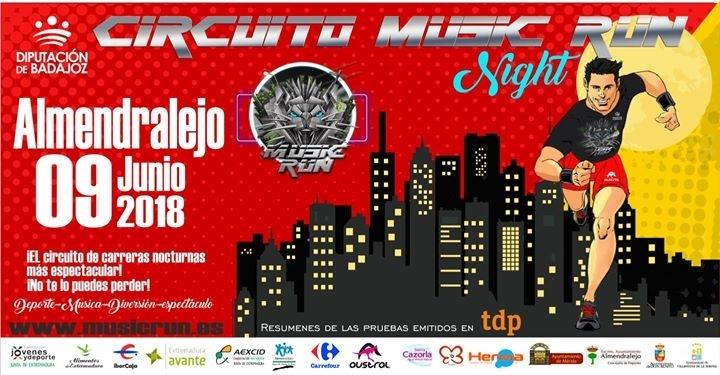 Abierto el plazo para participar en la Music Run de Almendralejo