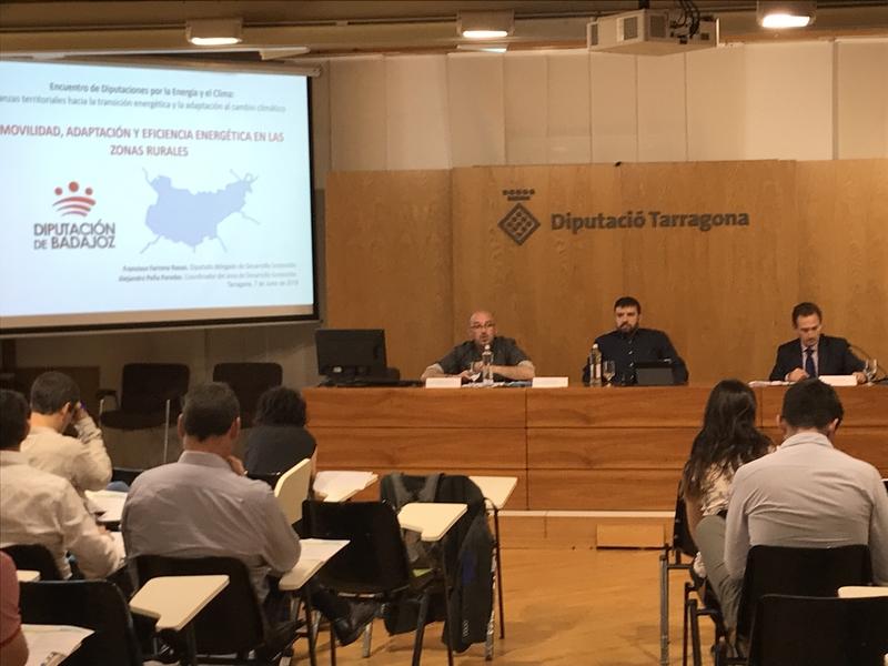 La Diputación de Badajoz participa en el encuentro entre Diputaciones por la Energía y el Clima en Tarragona