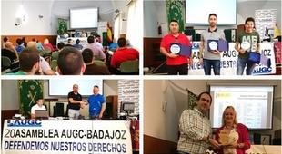 La AUGC de Badajoz reconoce el apoyo constante de CCOO
