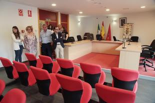 Miguel Ángel Gallardo visita La Garrovilla