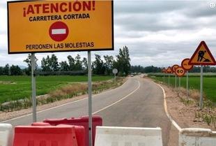 Cortes en las carreteras provinciales BA-140 y BA-014