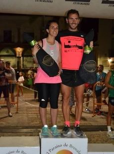Sergio Vázquez y Estefanía Carretero, ganadores de la prueba absoluta en la Carrera Popular Nocturna 'Ciudad de Jerez'