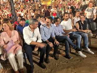 Gallardo asiste a la representación de El Alcalde de Zalamea en su 25 aniversario