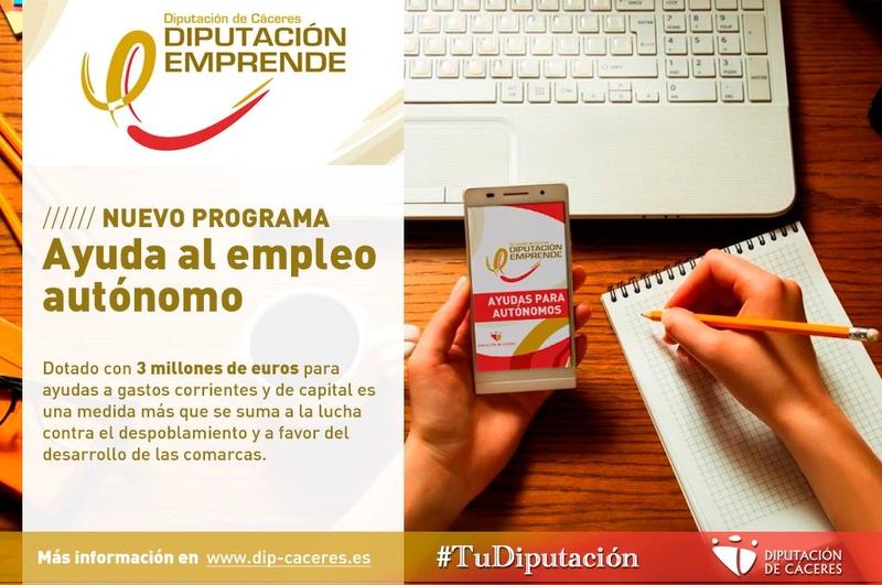 Diputación pone en marcha un nuevo programa de ayuda al empleo autónomo