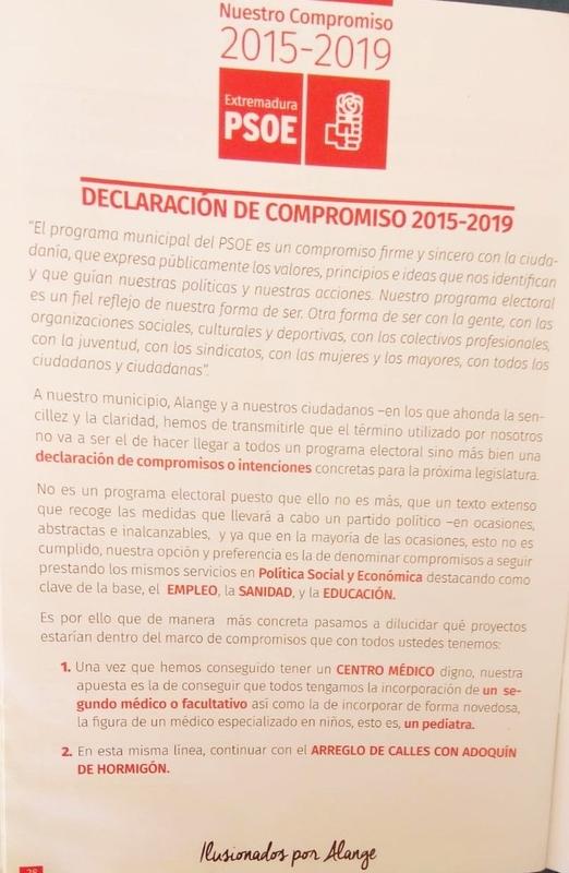 El PSOE sigue incumpliendo sus promesas electorales de dotar a Alange de un nuevo médico de familia y un pediatra según el PP