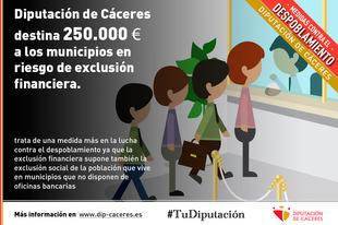 250.000 euros para los municipios en riesgo de exclusión financiera