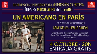 La Residencia Universitaria Hernán Cortés proyecta ''Un americano en París''