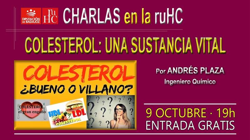 Charla-debate en la R.U. Hernán Cortés sobre el colesterol