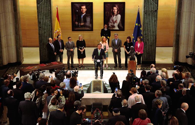 Un busto del liberal extremeño Diego Muñoz Torrero se exhibe desde ayer en el Congreso de los Diputados