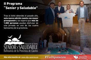 II Programa ''Senior y Saludable'' de la Diputación de Cáceres, un programa ''que cuida a las personas''