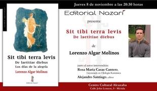 Lorenzo Algar Molinos presenta en Mérida ''Sit tibi Terra Levis''