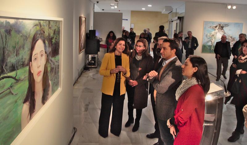 Inaugurada la exposición de la obra ganadora y las finalistas del XXXVI Premio de Pintura Eugenio Hermoso