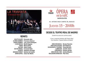 Ópera 'La Traviata' de Verdi en la RUHC