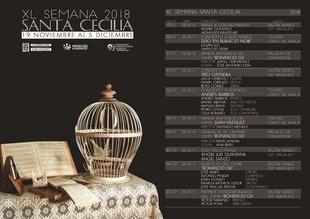 La XL Semana Musical de Santa Cecilia programa diez conciertos del 19 de noviembre al 5 de diciembre