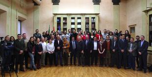 El presidente de la Diputación defiende el periodismo libre y veraz en el desayuno de Navidad con los medios de comunicación