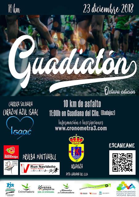 El domingo 23 se celebrará la octava edición de Guadiatón, en favor de Corazón Azul Isaac