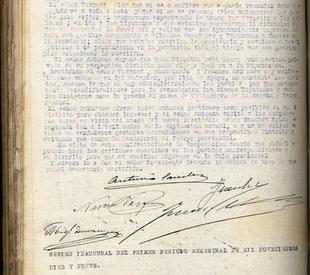 Documento del mes de enero 2019 del Archivo Provincial de la Diputación: ''Sucedió hace un siglo: Badajoz en 1919''
