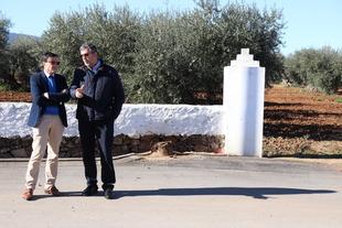 Miguel Ángel Gallardo conoce La Morera acompañado por el alcalde del municipio