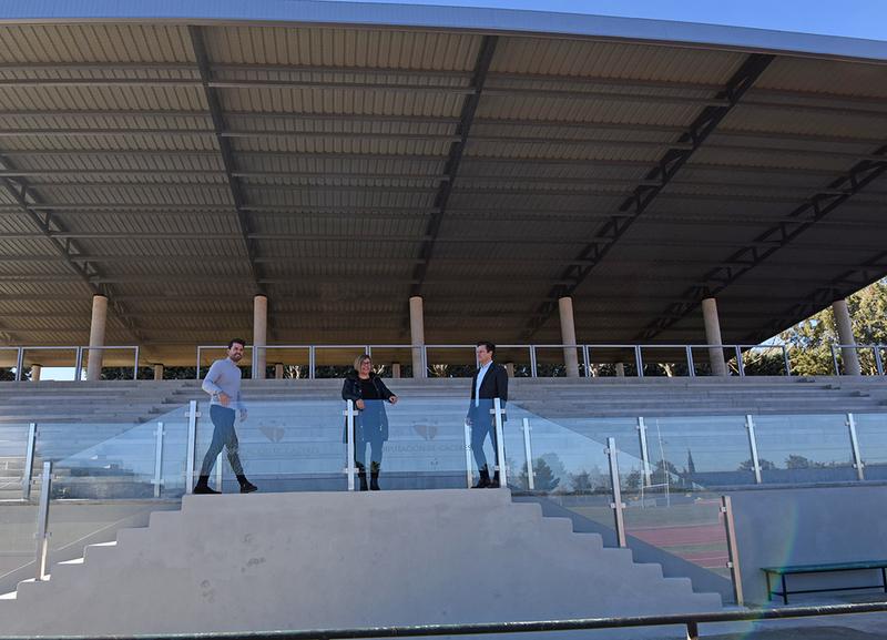 Se estrena la nueva cubierta del graderío del campo de Rugby y de las pistas de Atletismo de El Cuartillo