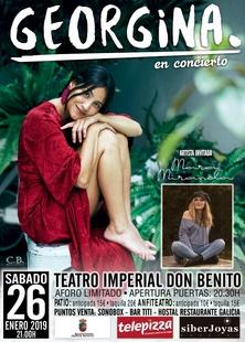 Actuación de Georgina en el Teatro Imperial de Don Benito
