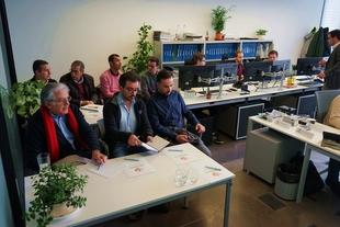 Representantes de Águas do Algarve visitan la unidad de telecontrol de Promedio