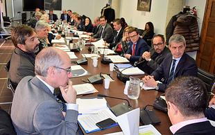 El presidente Miguel Ángel Gallardo asistió hoy a la reunión de la Comisión de Diputaciones Provinciales, Cabildos y Consejos Insulares de la FEMP