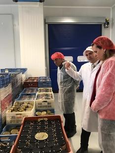 La delegada del Gobierno pone a la empresa ''Iberitos'' como ejemplo del futuro económico y empresarial para Extremadura