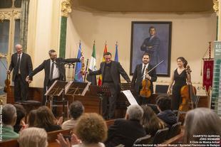Jörg WiDmann y el Cuarteto Quiroga estrenan 'Joyce', de Peter Ëtvos, en la Diputación de Badajoz