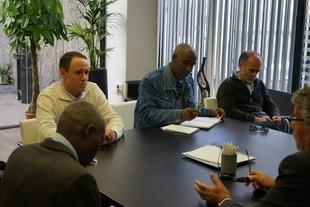 Promedio y autoridades de Santo Tomé y Príncipe comparten avances de un proyecto de gestión de residuos